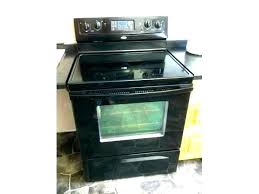 whirlpool glass top stove troubleshooting best cleaner black gas flat sears wall kenmore
