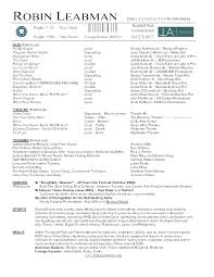 Sample Acting Resume No Experience Actors Resume Sample Acting