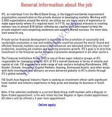 ifc international finance job circular 2016 bd jobs today ifc jobs ivestmen off