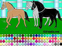 Раскраска с лошадками онлайн