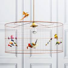beautiful birdcage chandelier with bulb light