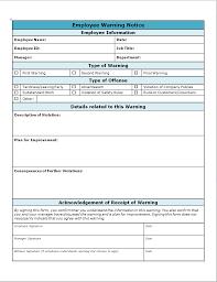 Restaurant Write Up Forms Employee Warning Write Up Invitation Templates Employee Warning