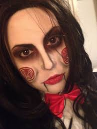 billy the puppet from saw makeup jigsaw puppet saw costume makeup done by me