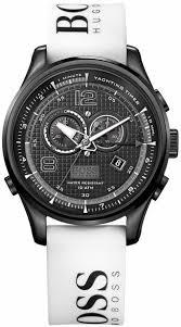 men s white hugo boss chronograph watch 1512802