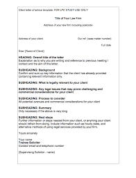 Legal Writing Client Letter Of Advice Template Lpc Insider
