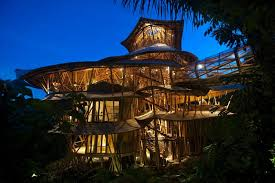 What could be more eco-friendly than staying in a house made of bamboo?