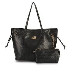 Coach City Knitted Medium Black Totes DZM