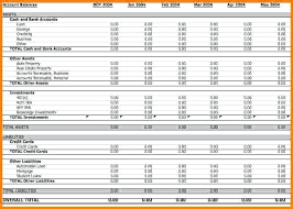 Personal Balance Sheet Template Excel Free Download – peero idea