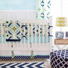 Light Green Crib Skirt Crib Skirt Lime Green Navy Starburst In Kiwi Caden Lane