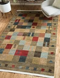 modern gabbeh design kids area rug contemporary style multi color carpet
