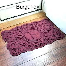 monogram outdoor rug new door mat inserts personalized mats doormat