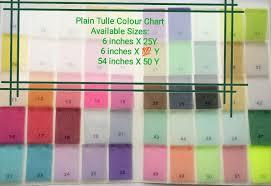 Plain Tulle Color Chart