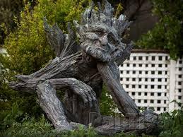 garden sculpture. Wooden Garden Sculptures Sculpture