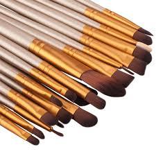 best professional makeup brush set. twenty pcs best professional makeup brushes set gold coffee brush