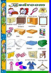 Bedroom Things Vocabulary spanish bedroom vocabulary www english