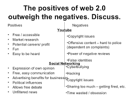 the positives of web essay the positives of web 2 0 outweigh the negatives discuss