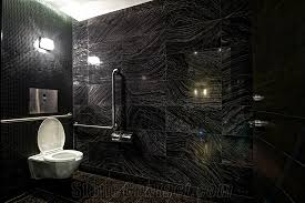 Forest Black Marble Bathroom Design, Wooden Black Marble Bathroom Design