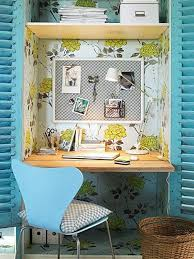 home office in a closet. Office Closet Ideas. Home Design And Interior Ideas In A