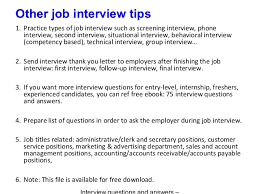 post interview questions
