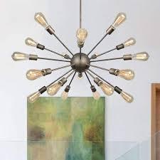 neutype antique design 18 lights sputnik chandeliers oil rubbed bronze finish