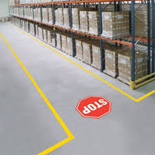 Amcor Pallet Pattern Chart Mighty Line Stop Sign For Floors In 2019 Floor Signage