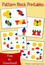 Pattern Block Template Interesting Free Pattern Block Printables Ultimate Homeschool Board