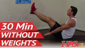 30 min workout without weights hasfit exercises without weights work out without equipment