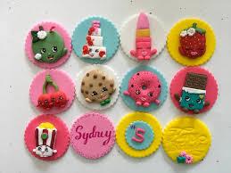 Fondant Shopkin Cupcake Cake Topper Shopkin Birthday Edible Etsy
