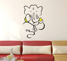 Small Picture 57000239 Wall Stickers God Ganesha Design for Pooja Room eBay