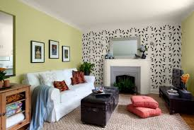 ... Lime Green Accent Wall... Living Room.