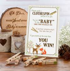 Baby Shower Clothes Pin Game Cool Woodland Clothespin Baby Shower Game Baby Shower Games Baby