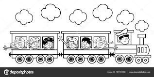 Disegni Dei Treni Per Bambini Treno Con Bambini Sta Andando