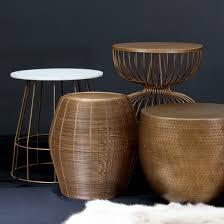 metal drum table. Saturn Side Table Metal Zinc Drum Satara Australia Within Design 17 M