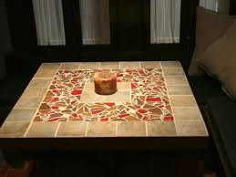 how to make a tile mosaic tabletop