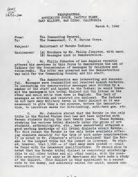 Page One Of Navajo Recommendation Letter 1942 History Reviews