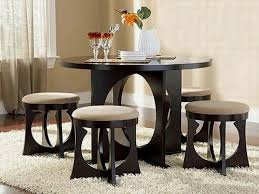 compact dining furniture. Exclusive Black Small Dining Table Round Compact Furniture
