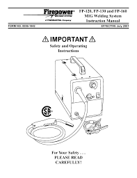 Victor Enterprise Welding System Fp 120 User Manual