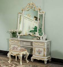 Ornate Bedroom Furniture Ornate Classic Bedroom Vanity With Mirror And Stool Timeless