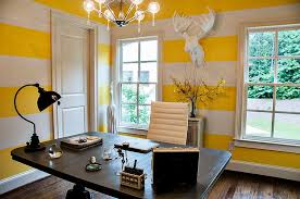 energizing home office decoration ideas. contemporary home office with white and yellow striped walls design 2 gays u0026 a energizing decoration ideas h