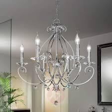 chrome coloured chandelier carat 6 bulb 5506163 31