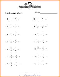 Fraction Math Worksheets Equivalent Fractions Worksheet In ...