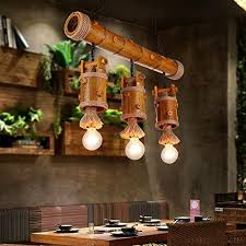 zwl 3 heads hemp rope chandeliers retro restaurant hanging lights creative bar bamboo lamp cafe clothing