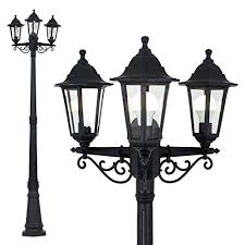 garden lamps. Simple Garden Traditional Victorian Style 195m Black 3 Way IP44 Outdoor Garden Lamp Post  Light With Lamps A