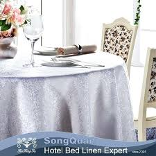 white cotton tablecloth plain polyester table cloth 90 round tablecloths