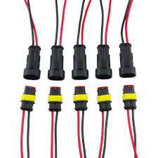 8 pin male female wire harness wiring library highrock 5 kit 2 pin way car waterproof electrical connector plug wire awg marine
