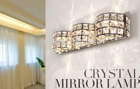 bathroom lighting mirror lamp crystal bathroom lights ideas mesmerizing crystal bathroom lights ideas