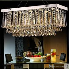 new design rectangular crystal chandeliers modern luminare led light fixtures ac110 240v dinning room luxury crystal lamps rope chandelier gold chandelier