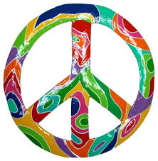 tropical psychodelic peace sign decor haitian metal wall art contemporary outdoor wall art by mary b decorative art