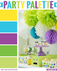 Party Palette: Bright and colorful party table