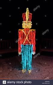 Christmas Lighted Soldiers Toy Soldier Christmas Stock Photos Toy Soldier Christmas